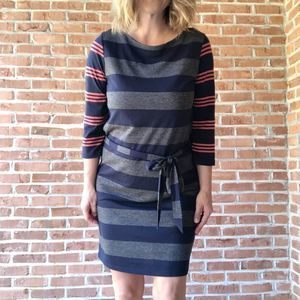 LOFT Striped Shirt Dress